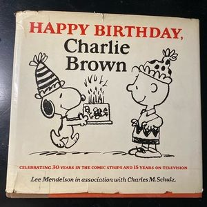 Happy Birthday Charlie Brown Vintage Book